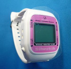シルウオッチ腕時計型受信器ホワイト&ピンク