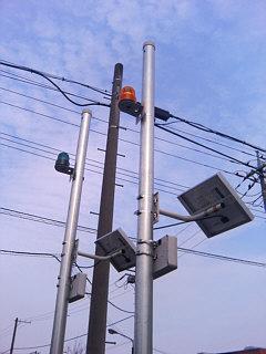 太陽電池式パトランプ無線警報システム